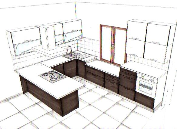 cucina disegno